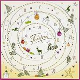 Feodora Adventskalender Weihnachtskreise Tischkalender mit Mini-Pralinés