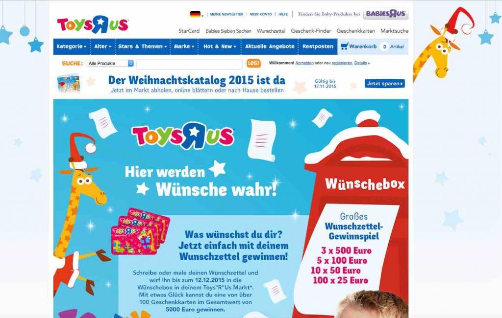 Toys R Us Gewinnspiel Sternschnuppen